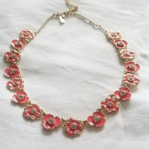 Kate Spade Geranium Beach House Bouquet necklace